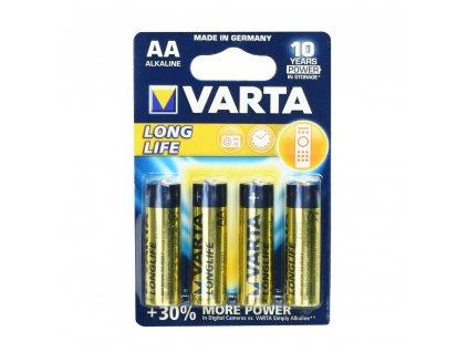 86472 varta alkalicka baterie longlife r6 aa 4 ks