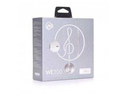 101868 wk design stereo sluchatka we300 headset bile