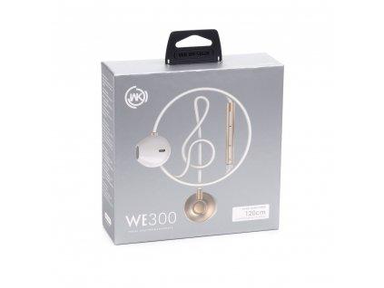 101862 wk design stereo sluchatka we300 headset zlate