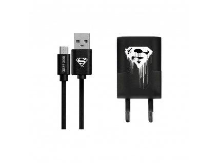 131087 sitova nabijecka licencovana superman micro usb odnimatelny kabel cerna 001