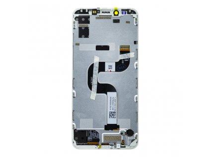 Original LCD displej + Dotyková deska + Přední kryt pro Xiaomi Mi A2 bílá
