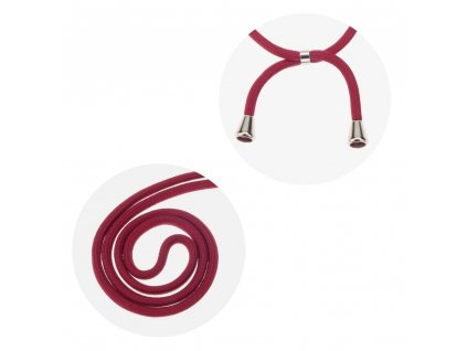 158333 pouzdro forcell cord huawei p40 lite transparentni cervena snurka