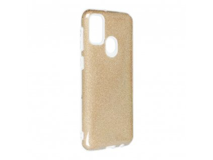 159377 pouzdro forcell shining samsung galaxy m21 zlate