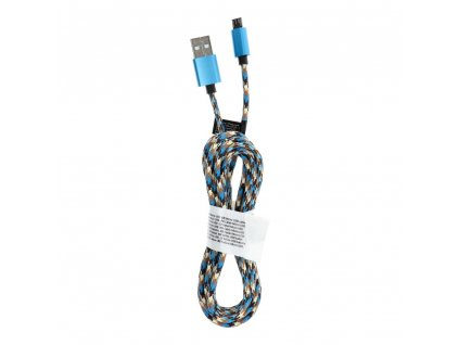 165479 kabel usb micro nylon c257 2 metry modry