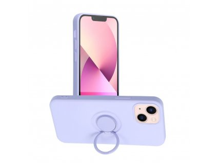 187068 2 pouzdro forcell silicone ring apple iphone 13 mini fialove