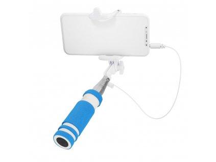71817 univerzalni selfie tyc drzak 3 5mm jack modra