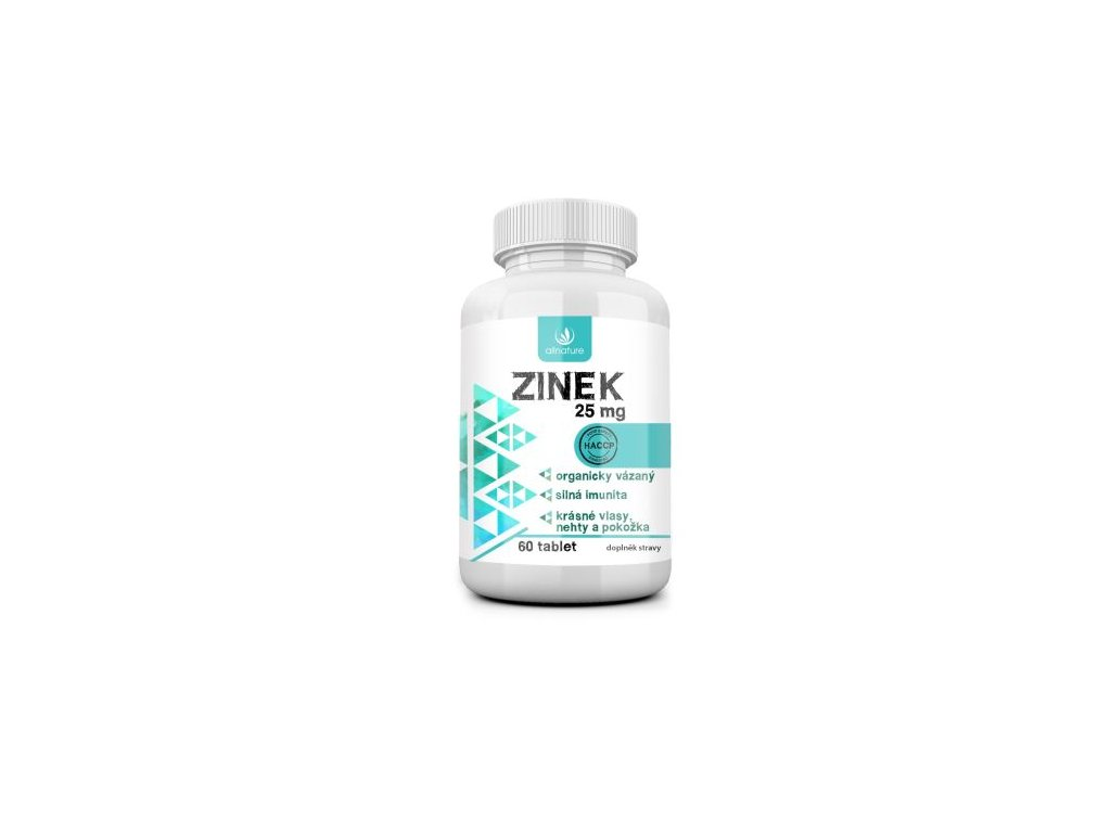 allnature zinek 25 mg 60 tbl