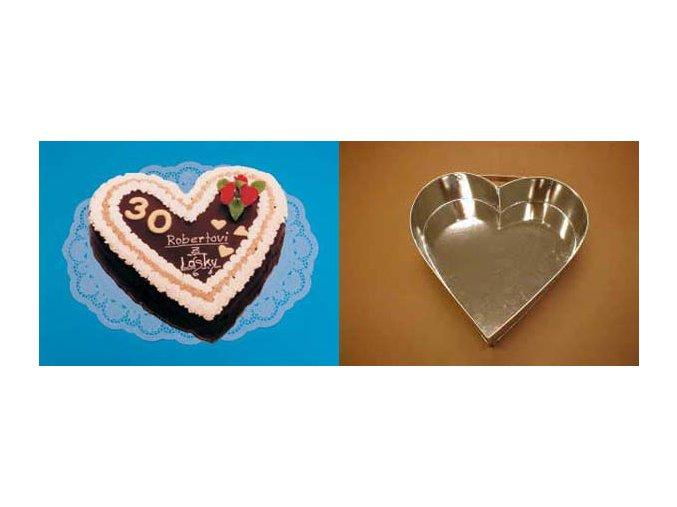 Srdce střední - dortforma