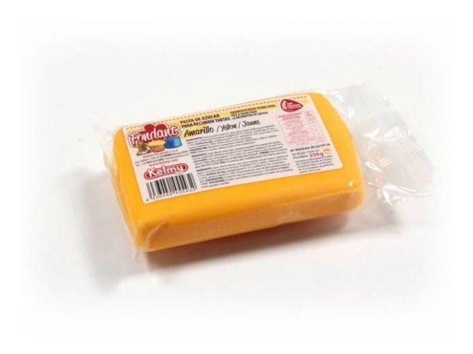 Fondánová hmota Kelmi 250 g žlutá žlout.