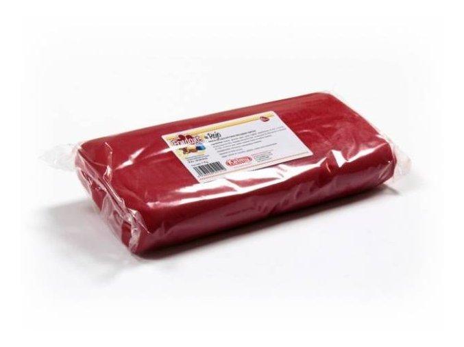 Fondánová hmota Kelmi 1 kg červená