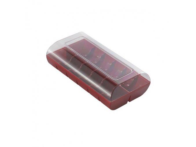 Krabice na makronky bordó 12 ks