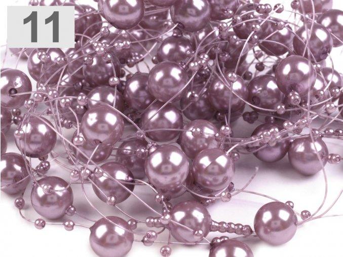 Girlanda - větší světle fialová 13 mm