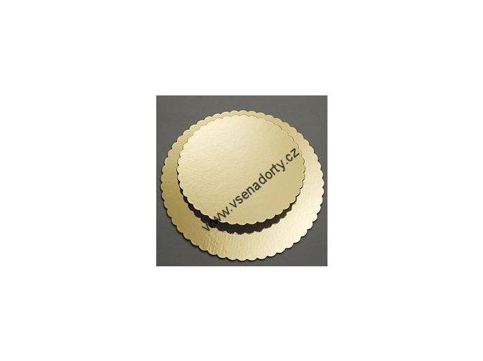 Papírová podložka zlatá zubatá 36 cm - OSOBNÍ ODBĚR