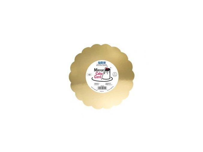 Papírová podložka zlatá vroubek 25,4 cm