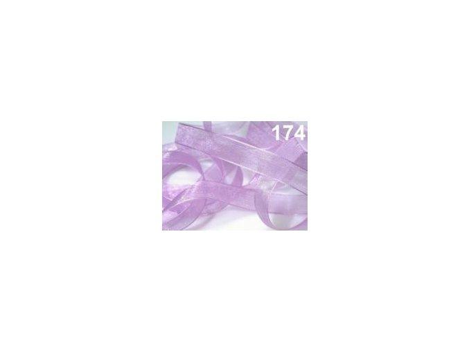 Stuha šifonová - světle fialová 1 m