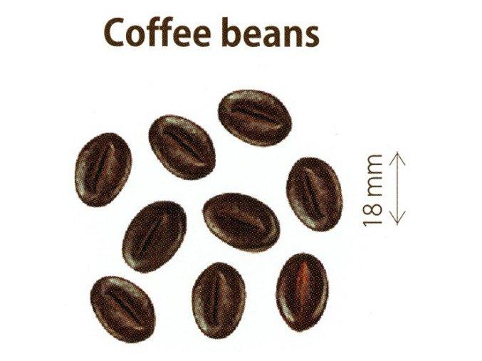 Čokoládová kávová zrnka