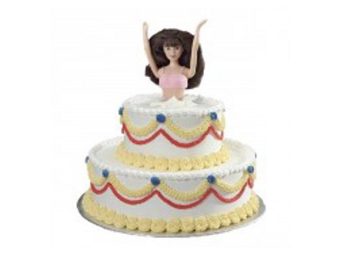 Figurka - zápich do dortu - tmavovláska