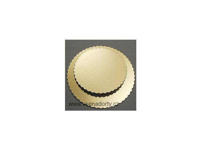Papírová podložka zlatá zubatá 26 cm