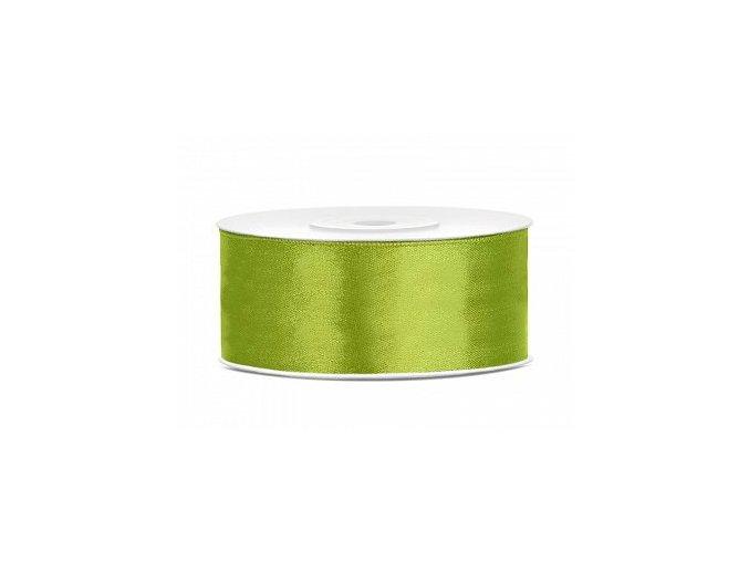 Stuha šifonová - hráškově zelená 1 m