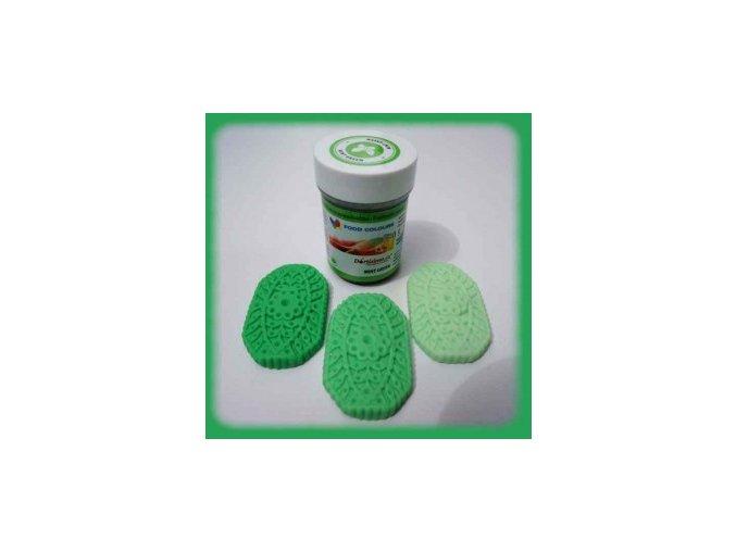 Food Colours - zelená mentolová kelímek 35 g