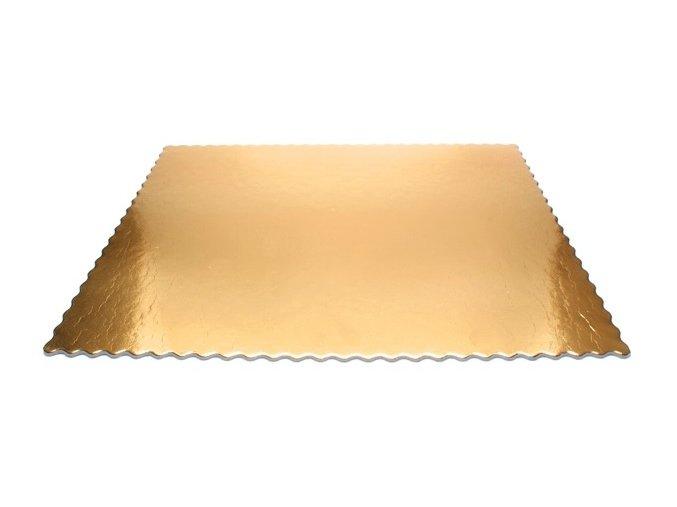 Papírová podložka zlatá hranatá 40x30 cm