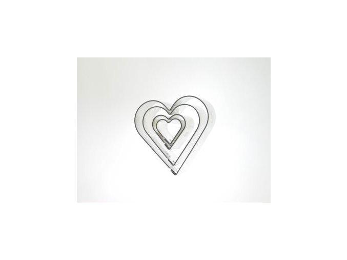 Srdce - kov 4 ks