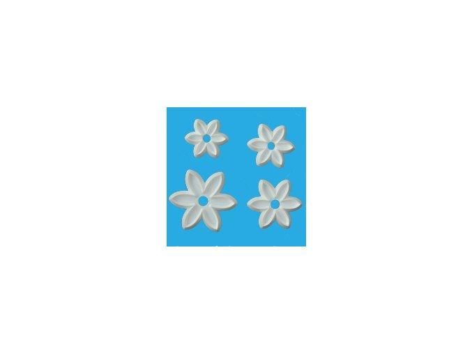 Květy šestilisté 4 ks