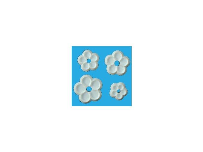 Sada pětilisté květy - 4 ks