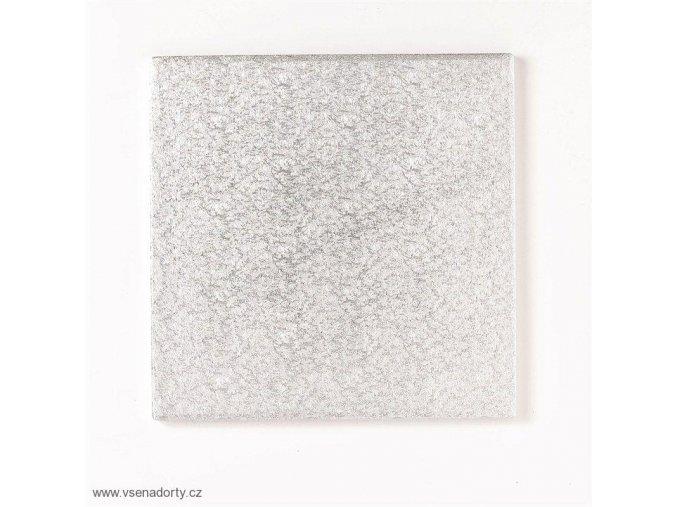 Stříbrná extra silná - čtverec 35 cm