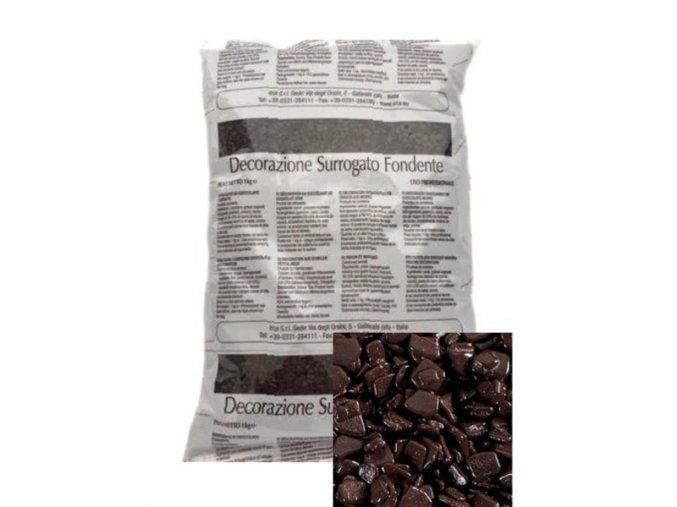 Hnědé čokoládové šupinky 1 kg