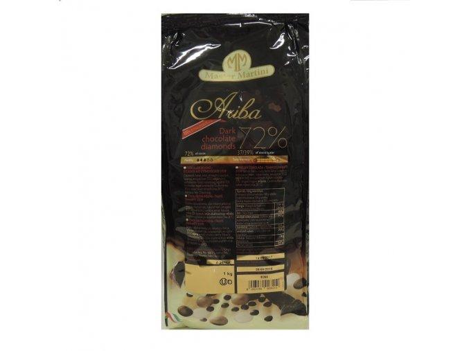 Čokoláda tmavá 72% - ARIBA Dark Diamonds 1 kg
