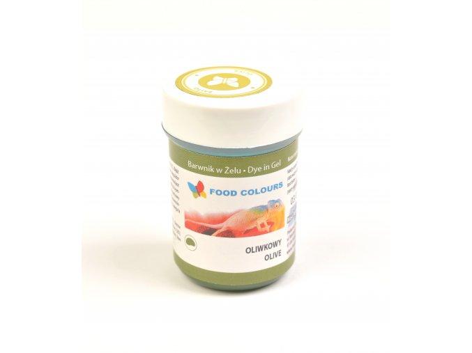 Food Colours - olivově zelená kelímek 35 g