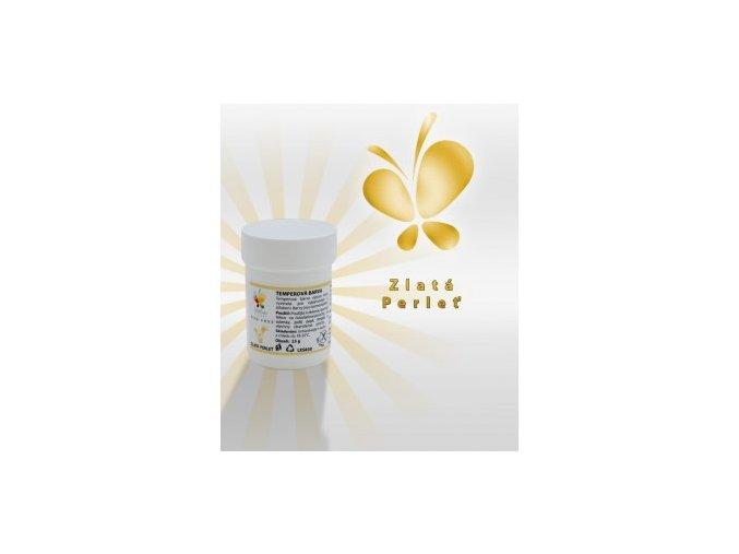 Temperová barva - zlatá perleť 25 g