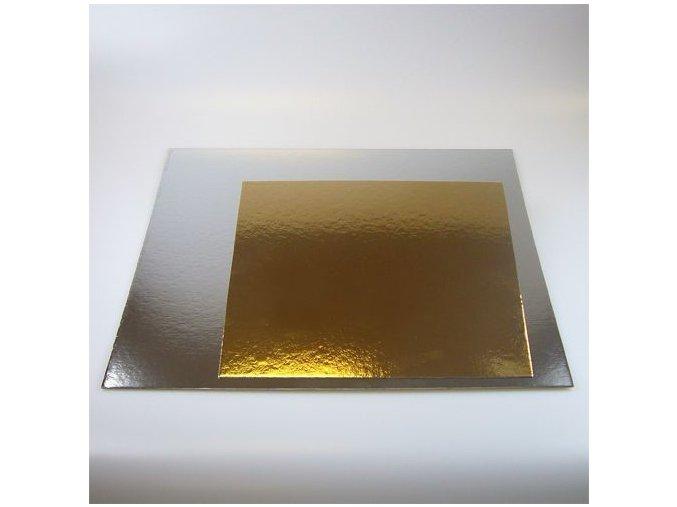 Papírová podložka zlatá hladká 35 x 35 cm