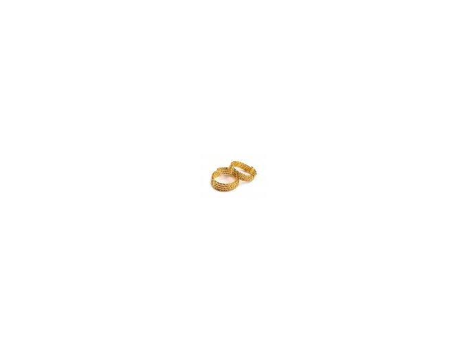 Prstýnek zlatý vyšší 1 ks