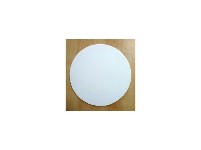 Papírová podložka hladká bílá lesklá M 24 cm