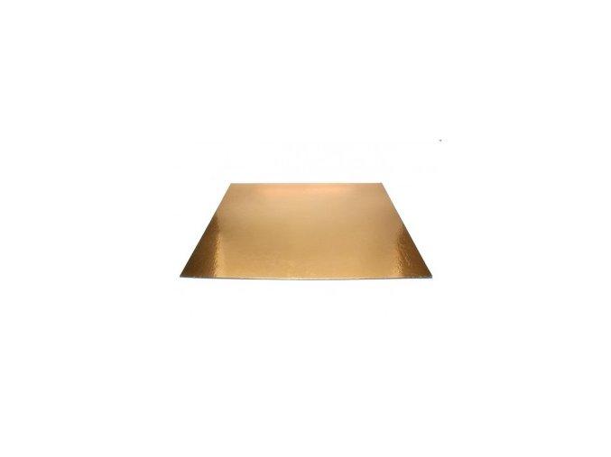 Papírová podložka zlatá hranatá 25x35 cm
