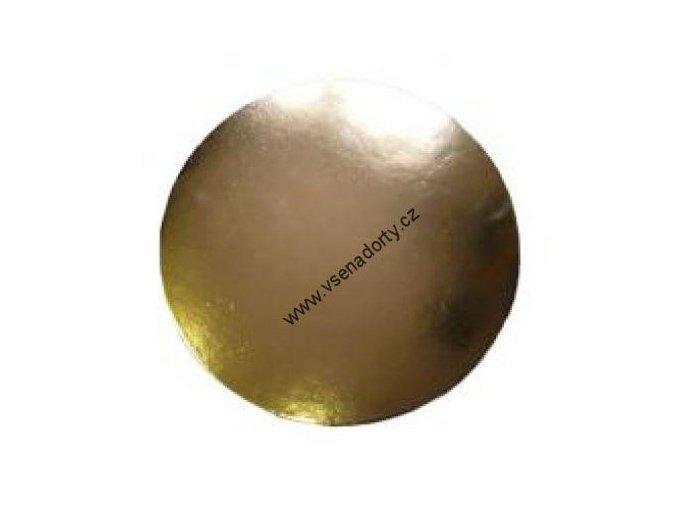 Karton zlatá hladká PEVNÁ 24 cm
