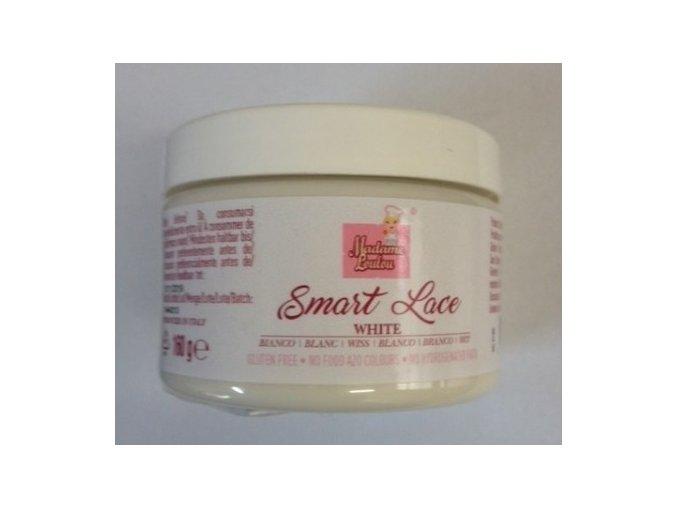 Smart Lace - hotová krajka perleťově bílá 160 g