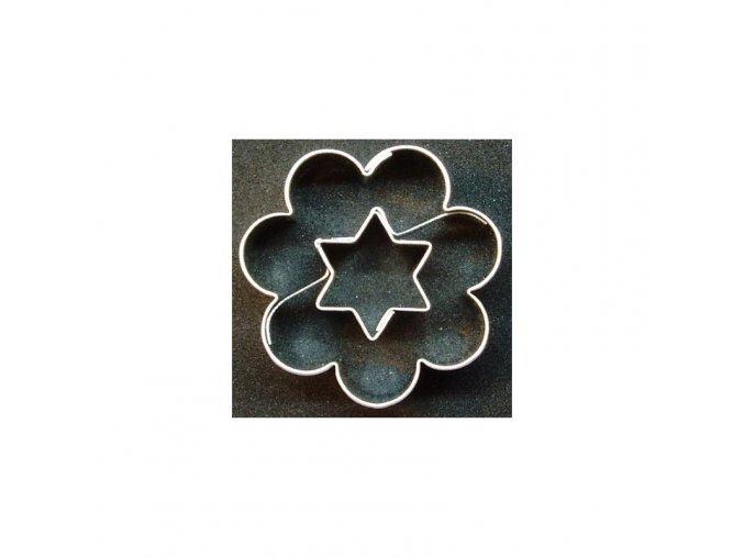 Kytička s hvězdičkou - kov