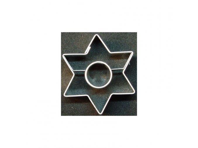 Hvězdička s kolečkem - kov