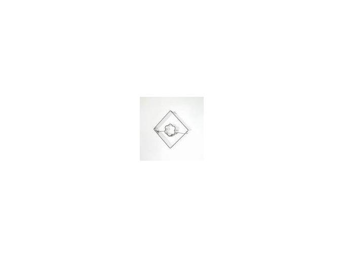 Čtvereček s kytičkou - kov
