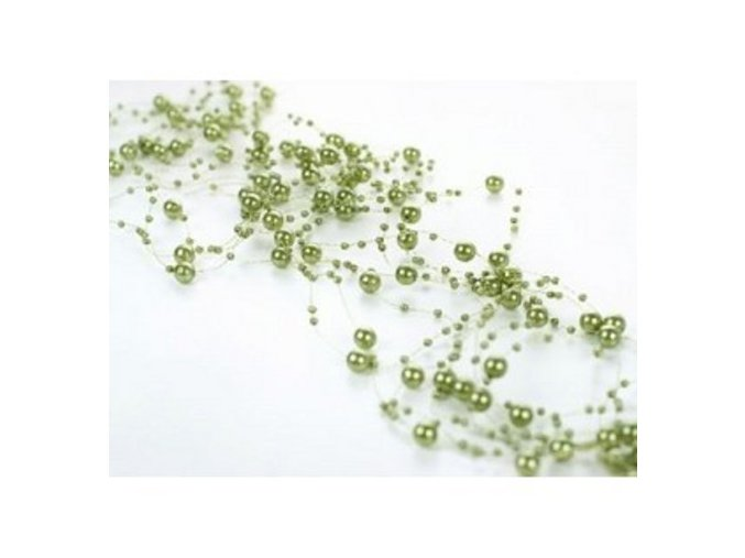 Girlanda - olivově zelená