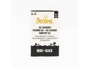 Gelová barva Decora - černá