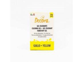 Gelová barva Decora - žlutá