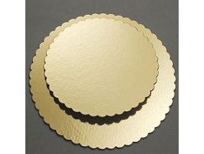 Papírová podložka zlatá zubatá 22 cm