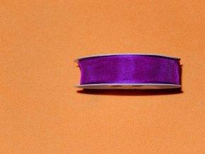 Stuha šifonová - sytě fialová 1 m