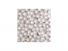Kuličky bílé perleťové