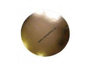Karton zlatá hladká PEVNÁ 22 cm