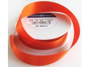 Stuha satén - oranžová 1 m
